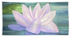 Aqua Bloom Hand Towel