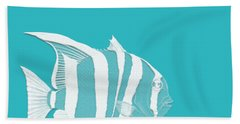 Aqua Fish  Bath Towel by Bonnie Bruno