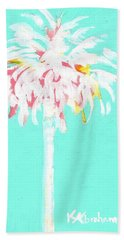Aqua Marine Palm Hand Towel