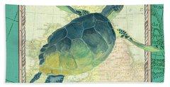 Aqua Maritime Sea Turtle Bath Towel