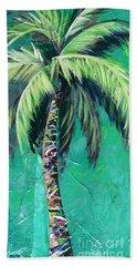 Aqua Palm Hand Towel