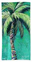 Aqua Palm Bath Towel by Kristen Abrahamson