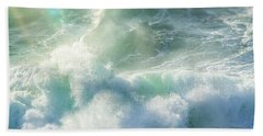 Bath Towel featuring the photograph Aqua Surge by Amy Weiss