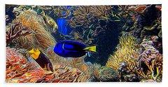 Aquarium Adventures In Abstract Bath Towel