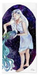 Aquarius Water Bearer Bath Towel