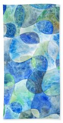 Aquatic Watercolor Hand Towel