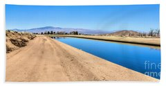 Aqueduct And The Tehachapi Mountains Hand Towel
