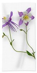 Aquilegia Specimen Bath Towel by Jane McIlroy