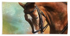 Bath Towel featuring the photograph Arabian Horse by Theresa Tahara
