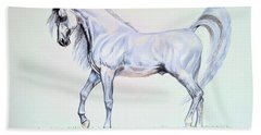 Arabian Stallion  Bath Towel by Cheryl Poland
