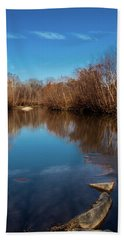 Hand Towel featuring the photograph Ararat River by Randy Sylvia