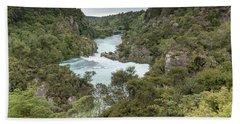 Hand Towel featuring the photograph Aratiatia Rapids by Gary Eason
