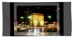 Arc De Triomphe By Bus Tour Greeting Card Poster V1 Bath Towel