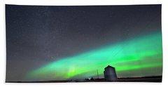 Arc Of The Aurora Hand Towel by Dan Jurak
