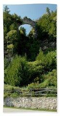 Hand Towel featuring the photograph Arch Rock Mackinac Island by LeeAnn McLaneGoetz McLaneGoetzStudioLLCcom