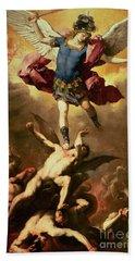 Archangel Michael Overthrows The Rebel Angel Bath Towel