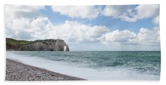 Arch At Etretat Beach, Normandie Hand Towel by Yoel Koskas