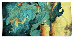 Bath Towel featuring the painting Archipelago by Deborah Smith