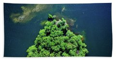 Archipelago Island - Aerial Photography Bath Towel