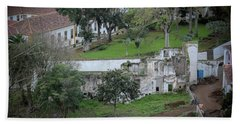 Architectural Ruins In Angra Do Heroismo Hand Towel