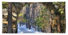 Hand Towel featuring the photograph Archway To Winter by Debbie Stahre