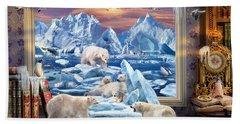 Arctic Bears Coming Bath Towel