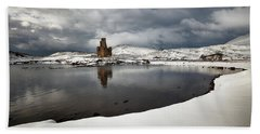 Ardvreck Castle In Winter Bath Towel