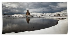 Ardvreck Castle In Winter Hand Towel