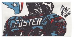 Bath Towel featuring the drawing Arian Foster 2 by Jeremiah Colley
