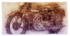Ariel Square Four 2 - 1931 - Vintage Motorcycle Poster - Automotive Art Bath Towel
