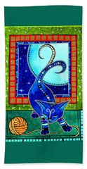 Aries Cat Zodiac Bath Towel