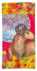 Hand Towel featuring the painting Aries by Cathie Richardson