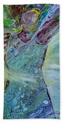 Bath Towel featuring the painting Arise by Deborah Nell