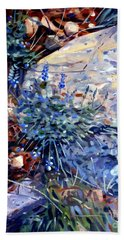 Hand Towel featuring the painting Arizona Flora Study by Donald Maier