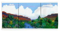 Hand Towel featuring the painting Arizona Sky by Bernard Goodman