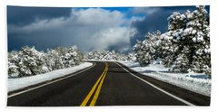 Arizona Snow Road Bath Towel
