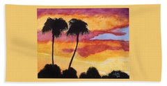 Bath Towel featuring the painting Arizona Sunrise - Scottsdale 5 A.m. by Rand Swift
