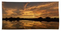 Arizona Sunset Bath Towel by Martina Thompson
