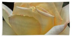 Hand Towel featuring the digital art Arizona Territorial Rose Garden - Pale Yellow  by Kirt Tisdale
