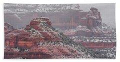 Arizona Winter Bath Towel by Racheal Christian