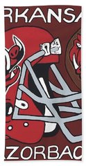 Arkansas Razorbacks Hand Towel by Jonathon Hansen