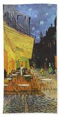 Arles Cafe Terrace At Night Hand Towel