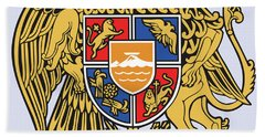 Bath Towel featuring the drawing Armenia Coat Of Arms by Movie Poster Prints