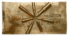 Army Star Bullets Hand Towel