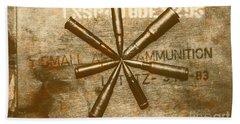 Army Star Bullets Bath Towel