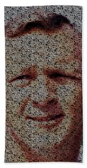 Hand Towel featuring the painting Arnold Palmer Win List Mosaic by Paul Van Scott