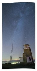 Bath Towel featuring the photograph Arouca And The Milky Way by Bruno Rosa