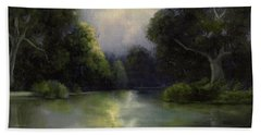 Bath Towel featuring the painting Around The Bend by Marlene Book