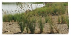 Around The Sacred Lake Of The Godess Mut At Luxor, Egypt Bath Towel
