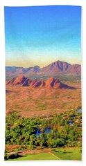 Arriving In Phoenix Digital Watercolor Hand Towel